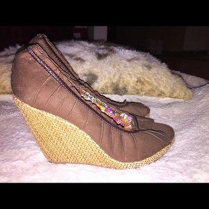 12cff93a80c Rue21 Shoes - NWOT! Cute RUE 21 etc. Open Toe Wedges